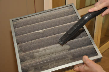this is an image of air duct cleaning